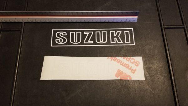 suzuki white letter decals vinyl oem suzuki decal