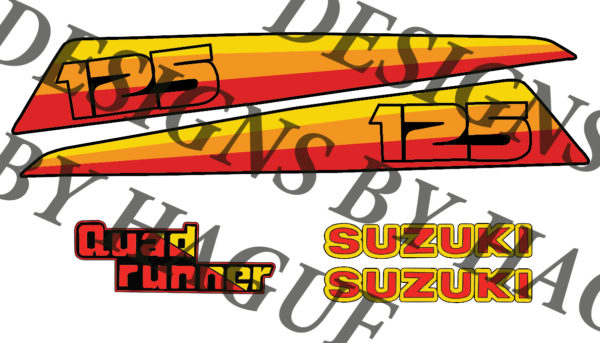 suzuki lt 125 decals oem graphics vinyl