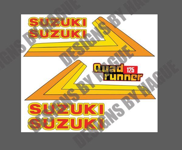 suzuki lt 125 decals oem graphics vinyl 1984 1985 1986